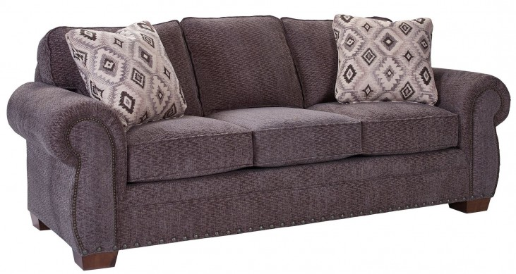 Cambridge Walnut Chenille Fabric Sofa