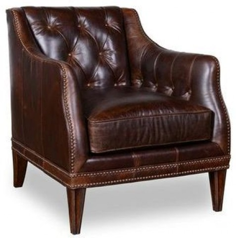 Kennedy Walnut Matching Leather Chair
