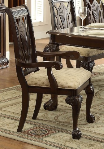 Norwich Warm Cherry Arm Chair Set of 2