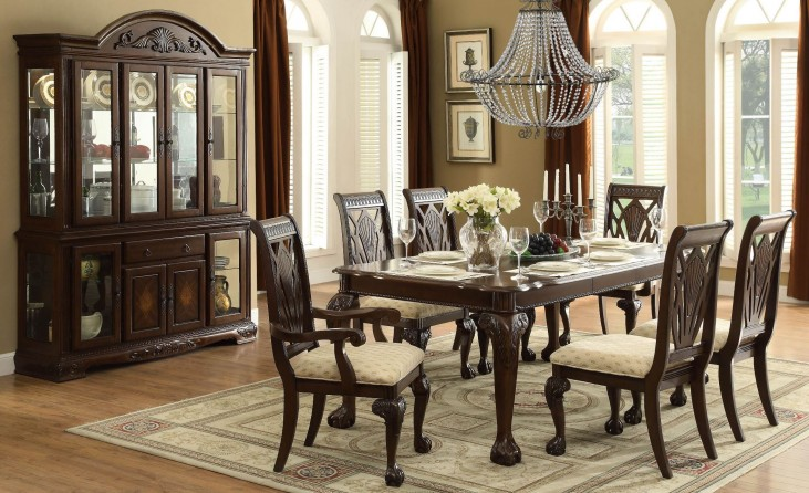 Norwich Warm Cherry Leg Dining Room Set