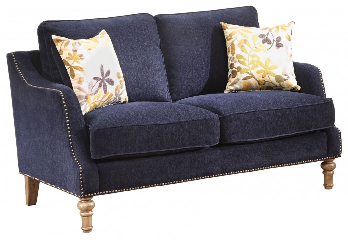 Vessot Ink Blue Loveseat
