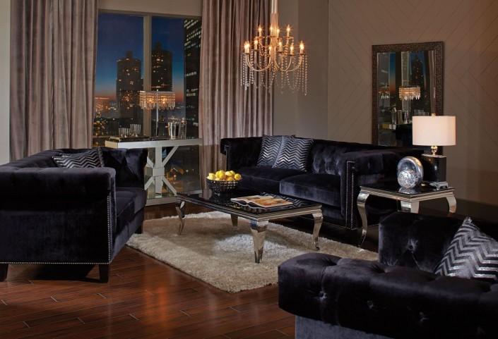 Reventlow Black Living Room Set