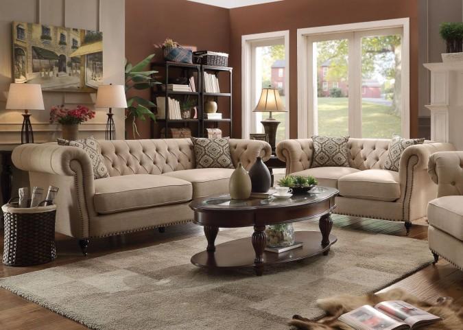 Trivellato Oatmeal Living Room Set