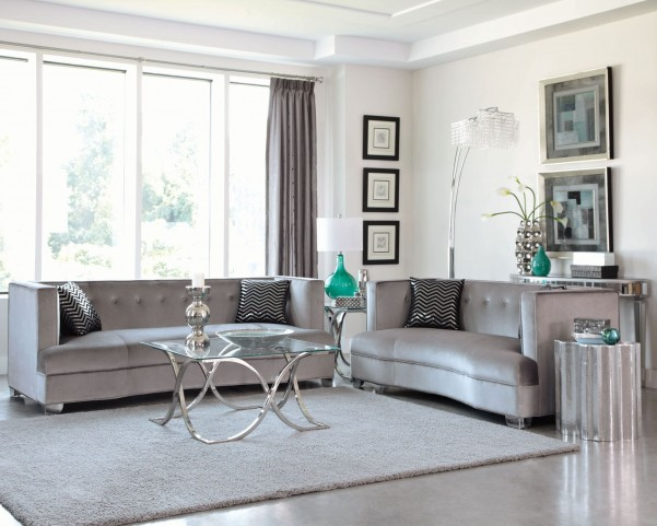 Caldwell Silver Living Room Set