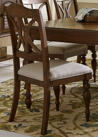 Summer House III Cherry Upholstered Side Chair Set of 2