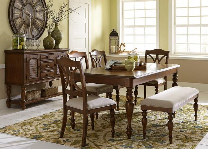 Summer House III Cherry Rectangular Leg Dining Room Set