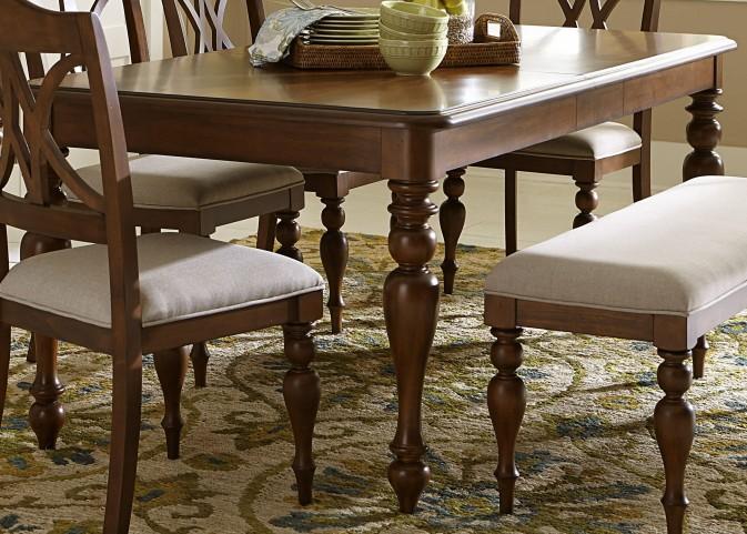 Summer House III Cherry Extendable Rectangular Leg Table