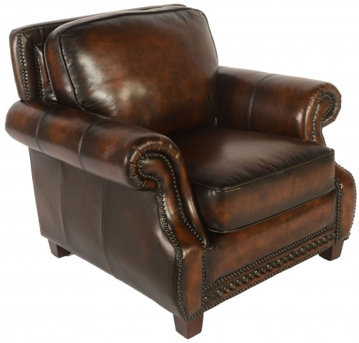 Prato Black & Tan Leather Chair