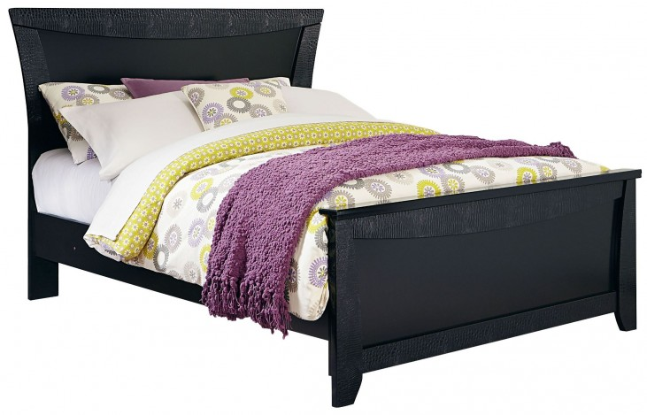 Vogue Glossy Black Twin Panel Bed