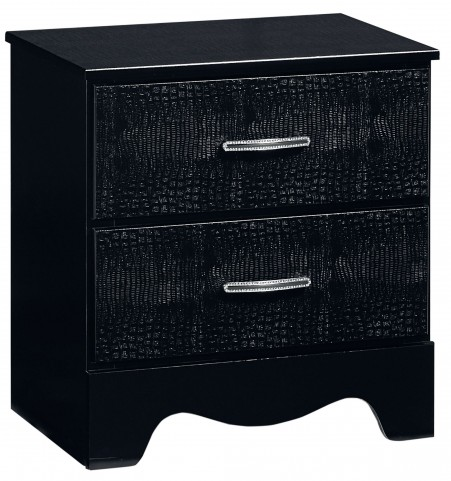 Vogue Glossy Black Nightstand