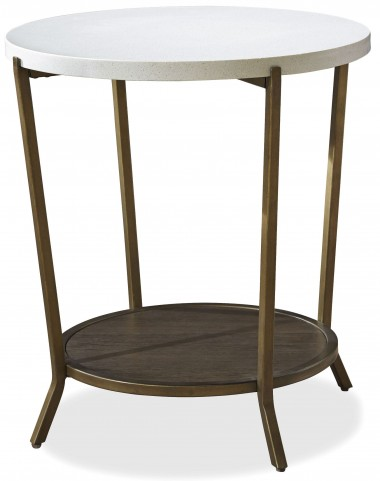 Playlist Brown Eyed Girl Round End Table