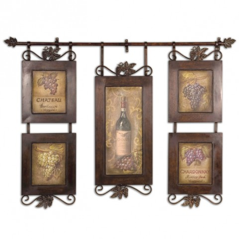 Hanging Wine Framed Art