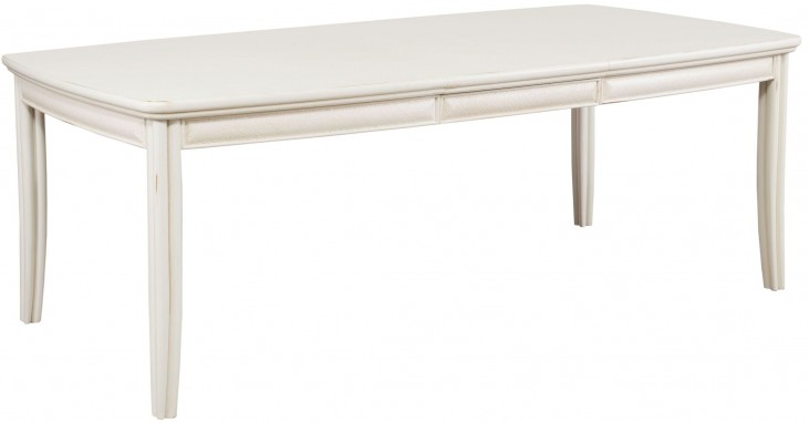 Siesta Sands White Sand Extendable Leg Dining Table