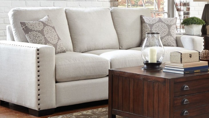 Rosanna Pewter Linen Sofa by Donny Osmond