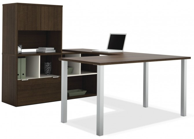 Contempo Tuxedo U-Shaped Desk with Hutch
