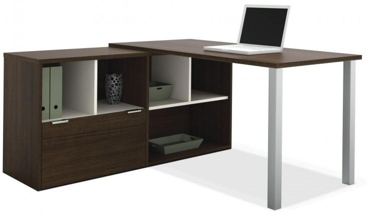 Contempo Tuxedo L-Shaped Desk
