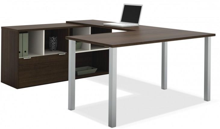 Contempo Tuxedo U-Shaped Desk