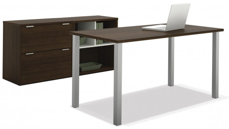 Contempo Tuxedo Executive Desk Set