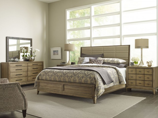 Evoke Barley Upholstered Shelter Bedroom Set