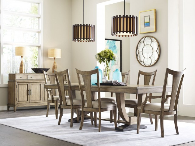 Evoke Barley Trestle Extendable Dining Room Set