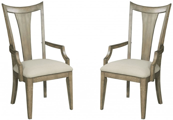 Evoke Barley Slat Back Arm Chair Set of 2