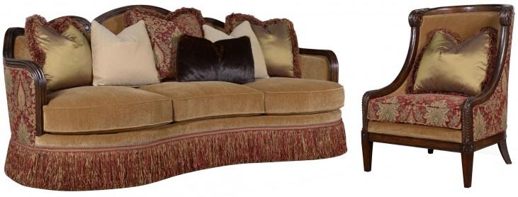 Giovanna Caramel Living Room Set