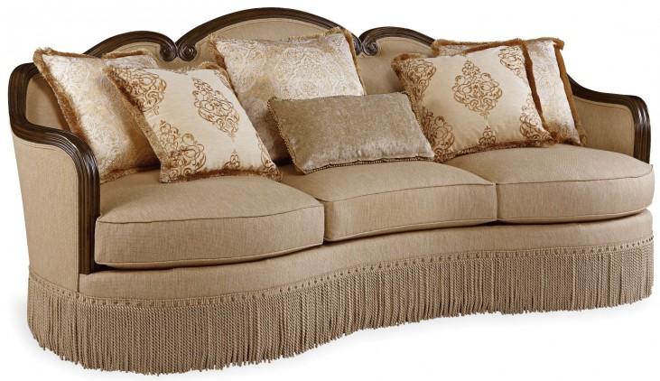 Giovanna Golden Quartz Upholstered Sofa