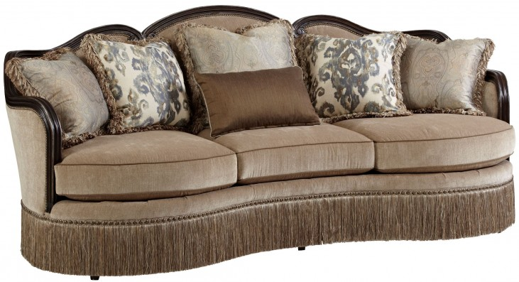 Giovanna Azure Upholstered Sofa