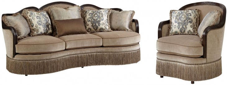 Giovanna Azure Upholstered Living Room Set