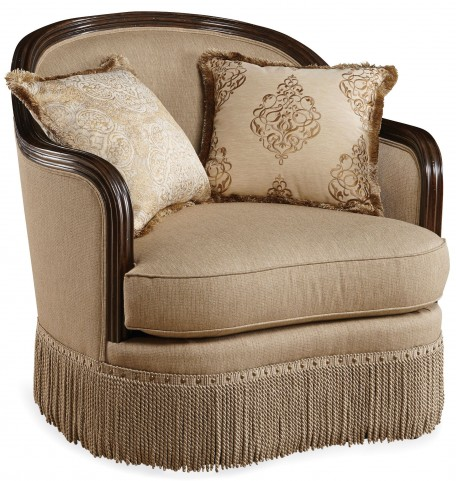 Giovanna Golden Quartz Upholstered Chair