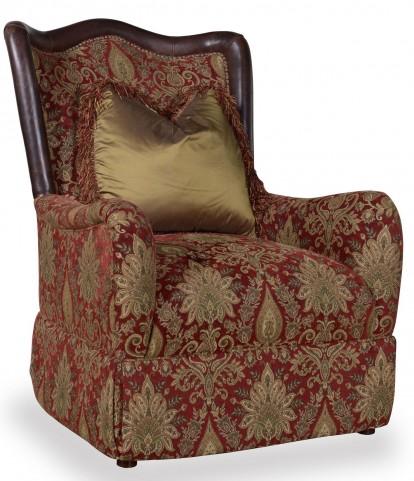 Giovanna Caramel Skirted Accent Chair