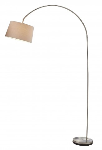 Goliath Satin Steel Arc Lamp