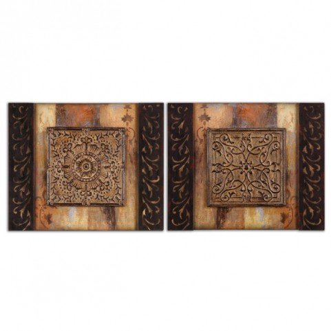 Ornamentational Block Art Set of 2