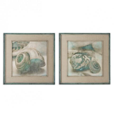 Coastal Gems Framed Art Set of 2