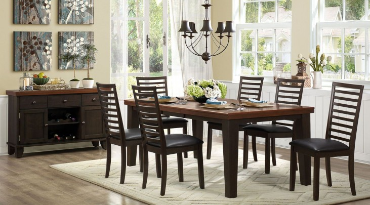 Walsh Uv Coating Top Extendable Dining Room Set