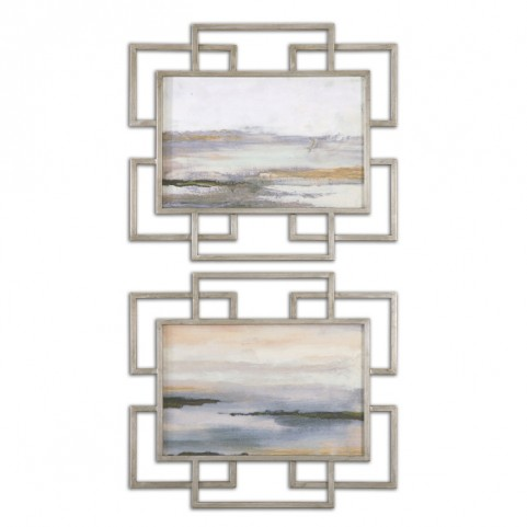 Gray Mist Framed Art Set of 2