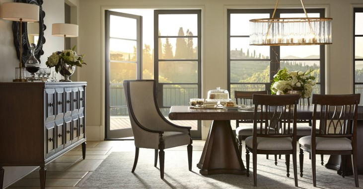 Villa Couture Pedestal Dining Room Set
