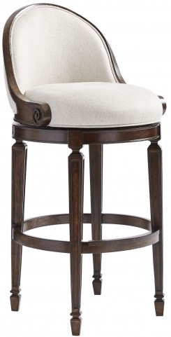 Villa Couture Mottled Walnut Como Bar Stool