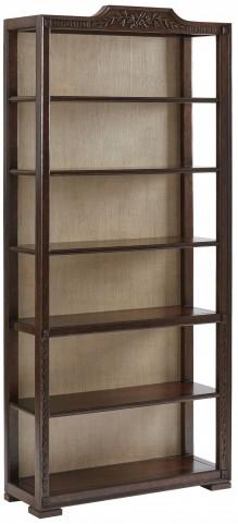 Villa Couture Mottled Walnut Viviana Bookcase