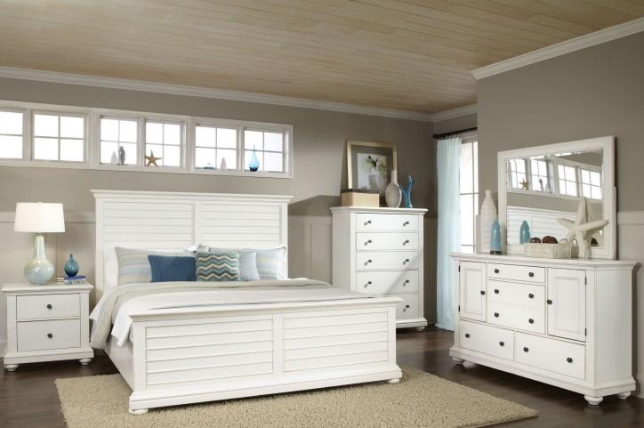 Pathways White Panel Bedroom Set