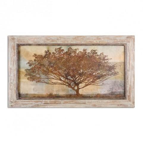 Autumn Radiance Sepia Framed Art