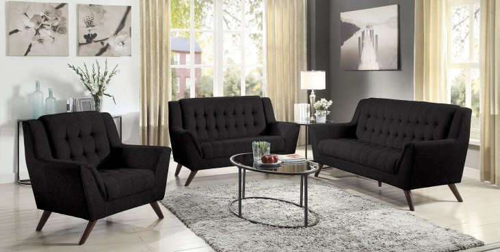 Baby Natalia Black Living Room Set