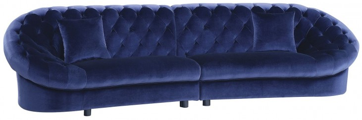 Romanus Royal Blue Velvet Sectional
