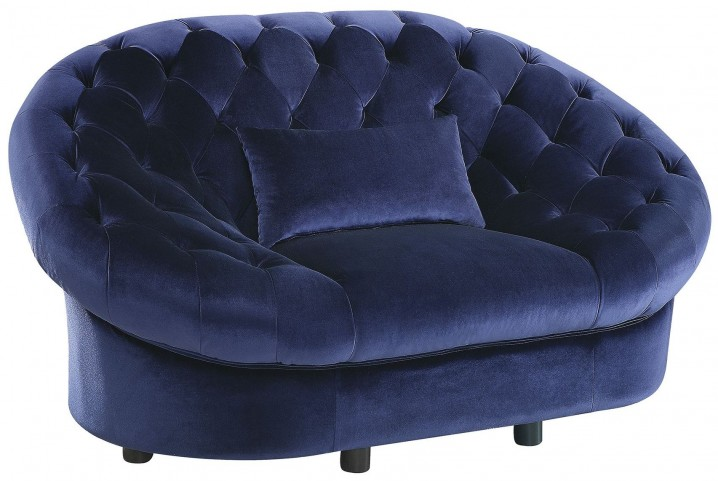 Romanus Royal Blue Velvet Chair