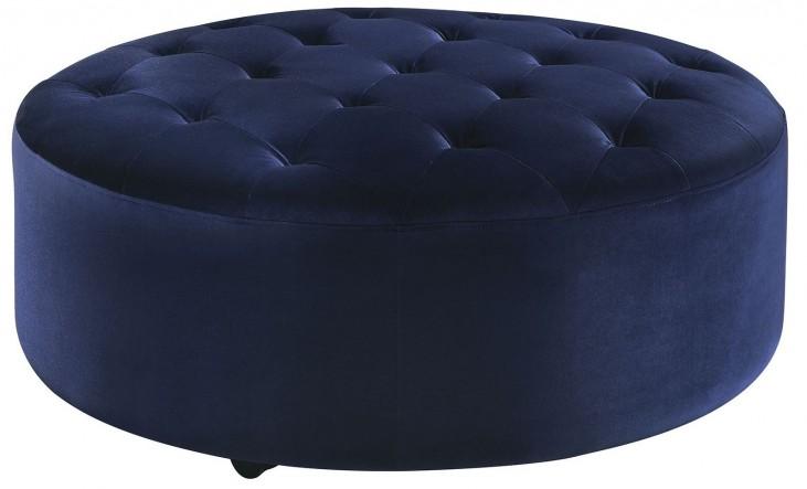 Romanus Royal Blue Velvet Ottoman