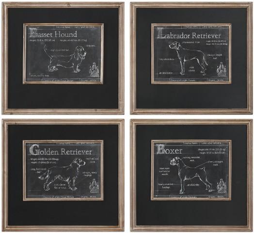 Canis Lupus Familiaris Prints Set of 4