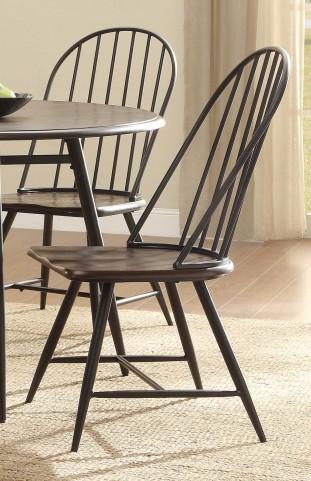 Hesperia Dark Brown Side Chair Set of 4