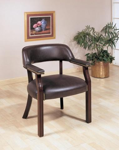 Burgundy Office Guest Chair 511B