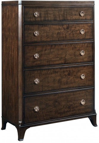 Grantham Hall Deep Coffee Drawer Chest