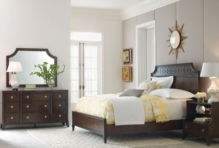 Grantham Hall Deep Coffee Bedroom Set
